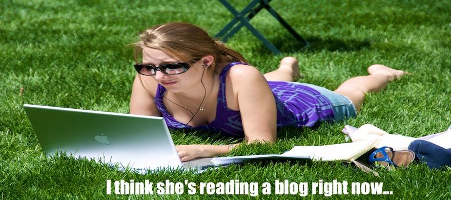 reading blogs