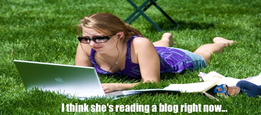 reading blogs