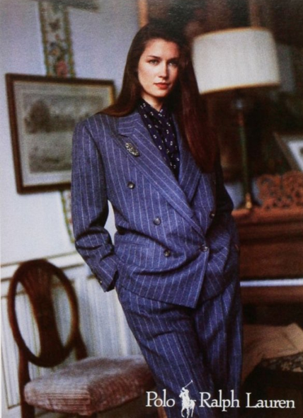woman in a power suit
