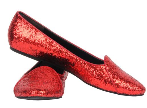 red glitter shoe