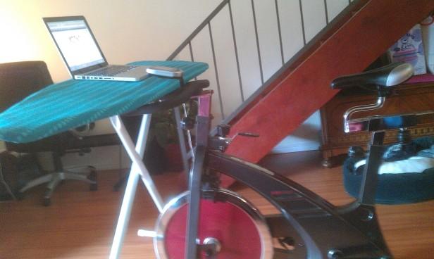 laptop shelf for bike